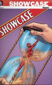 "Taken from the cover of Showcase #14, as Flash fights ""The Giants of the Time-World""."