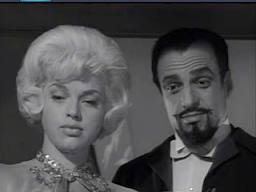 "Diana Dors and David J. Stewart as Irene and Vincent Saidini in ""The Sorcerer's Apprentice"""