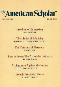 The American Scholar Spring 1977